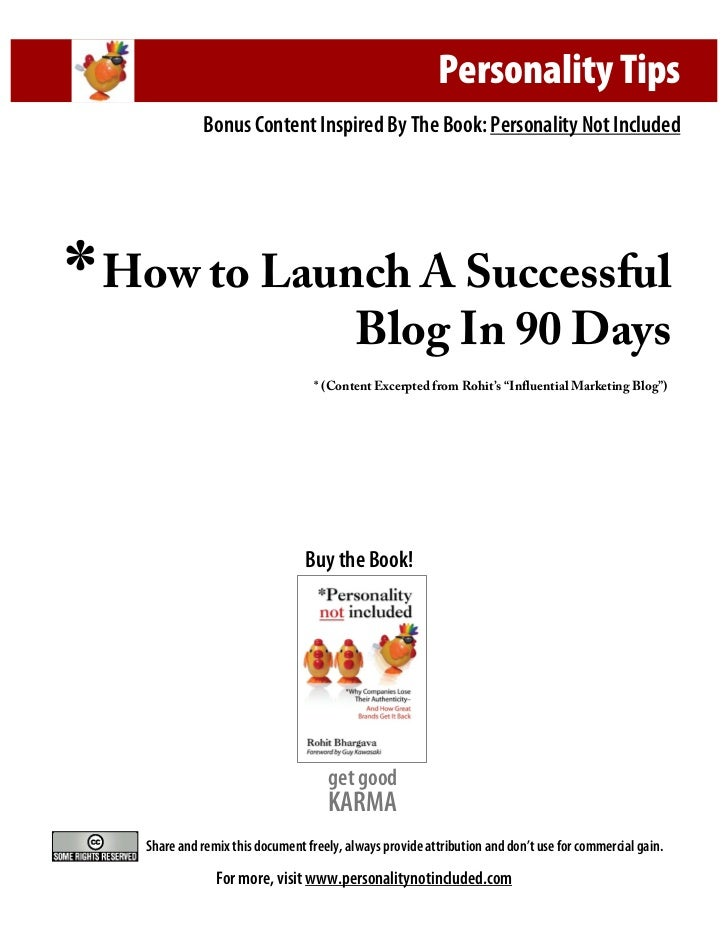 Personality Tips                 Bonus Content Inspired By The Book: Personality Not Included     *   How to Launch A Succ...