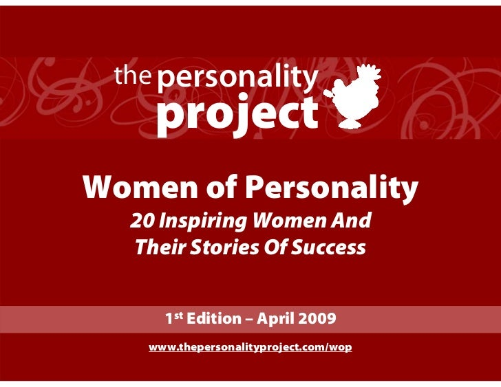 the personality     project Women of Personality   20 Inspiring Women And   Their Stories Of Success        1st Edition – ...