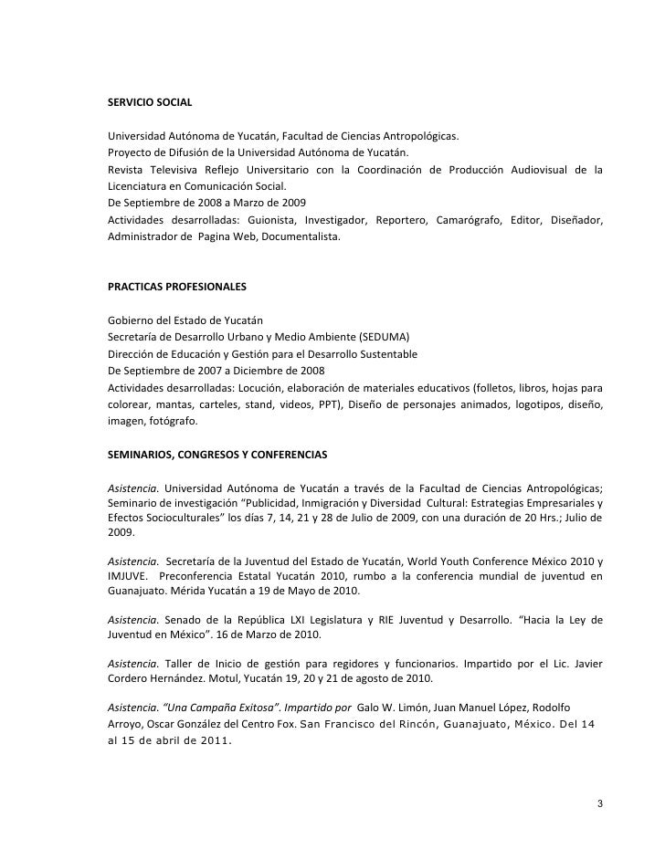 Curriculum Vitae Renán Medina Canché