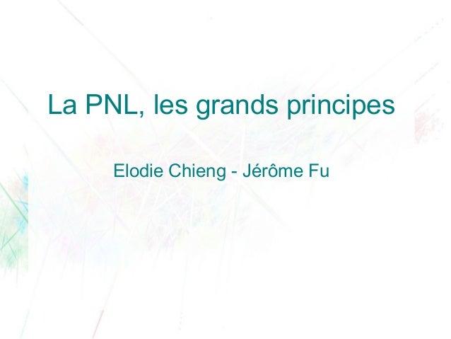La PNL, les grands principes     Elodie Chieng - Jérôme Fu