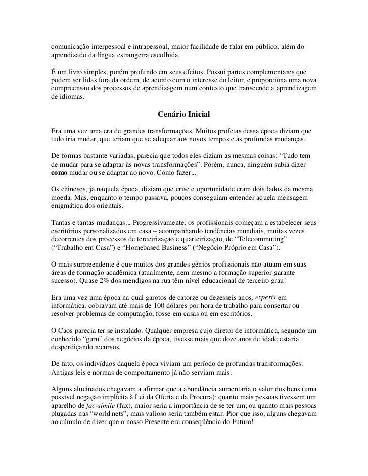 Pnl desbloqueando o aprendizado de idiomas (tecnicas para acelerar … 861fe43b669ec