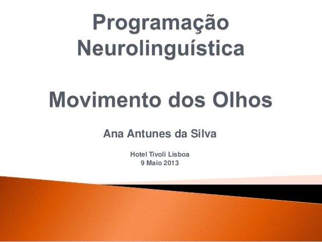 Ana Antunes da SilvaHotel Tivoli Lisboa9 Maio 2013