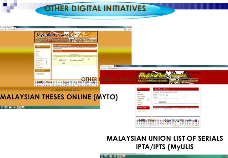 malaysian online thesis