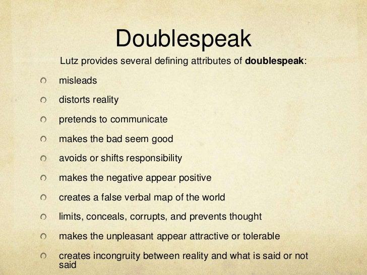 doublespeak william lutz thesis
