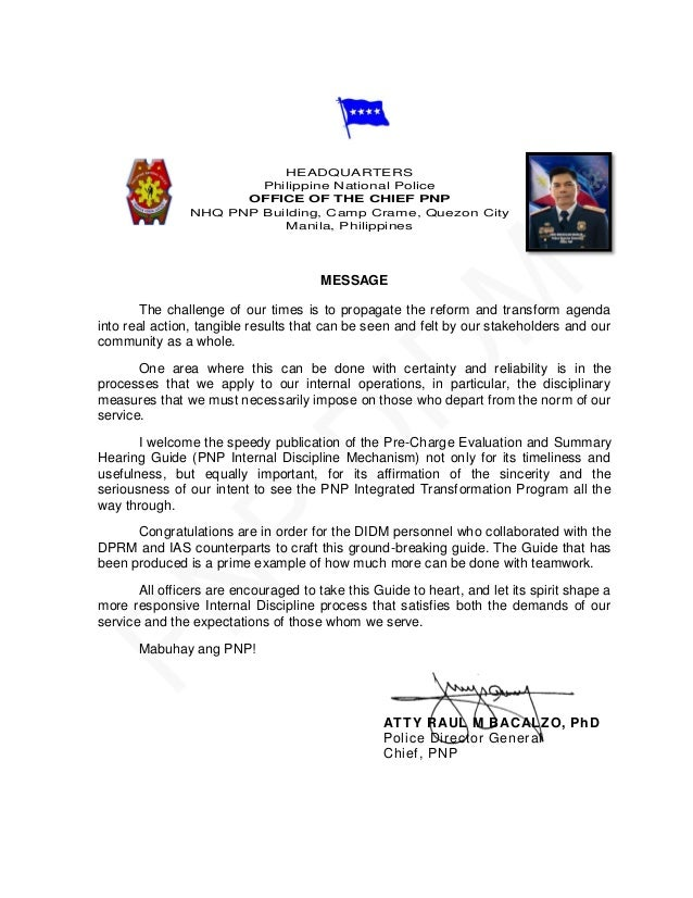 application letter for pnp nup
