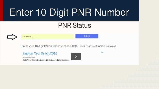 Pnr Status Indian Railways
