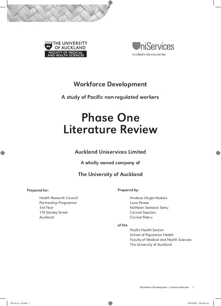 Workforce Development                                     A study of Pacific non-regulated workers                        ...