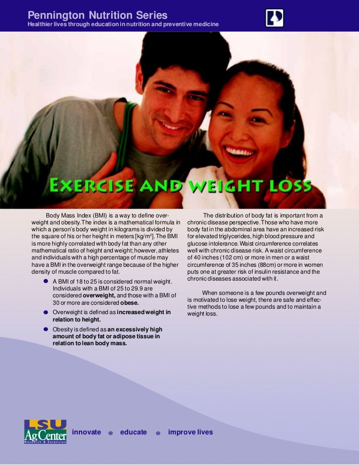 Pennington Nutrition SeriesHealthier lives through education in nutrition and preventive medicine       Body Mass Index (B...