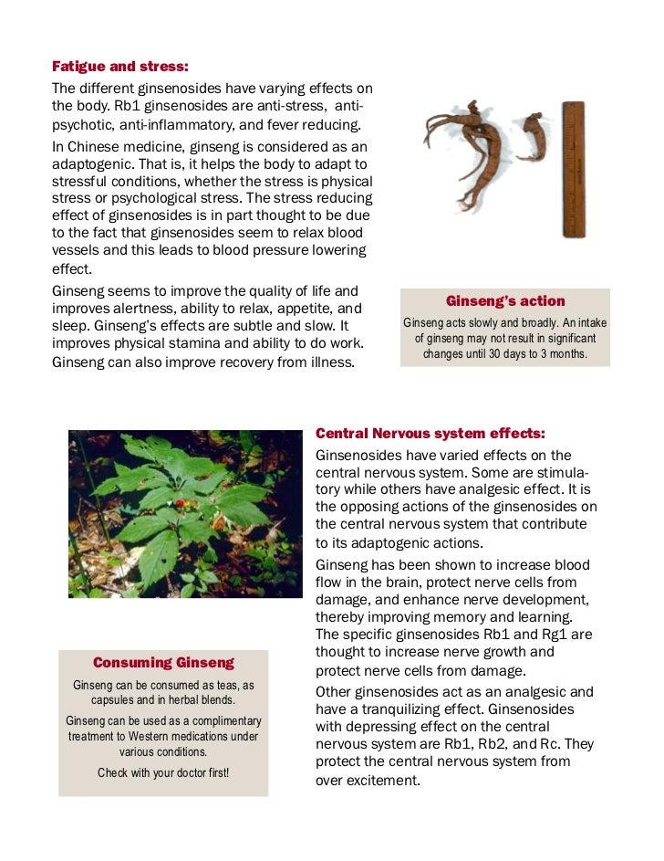 Health benefits ginseng
