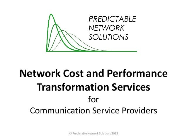 Network Cost and Performance Transformation Services