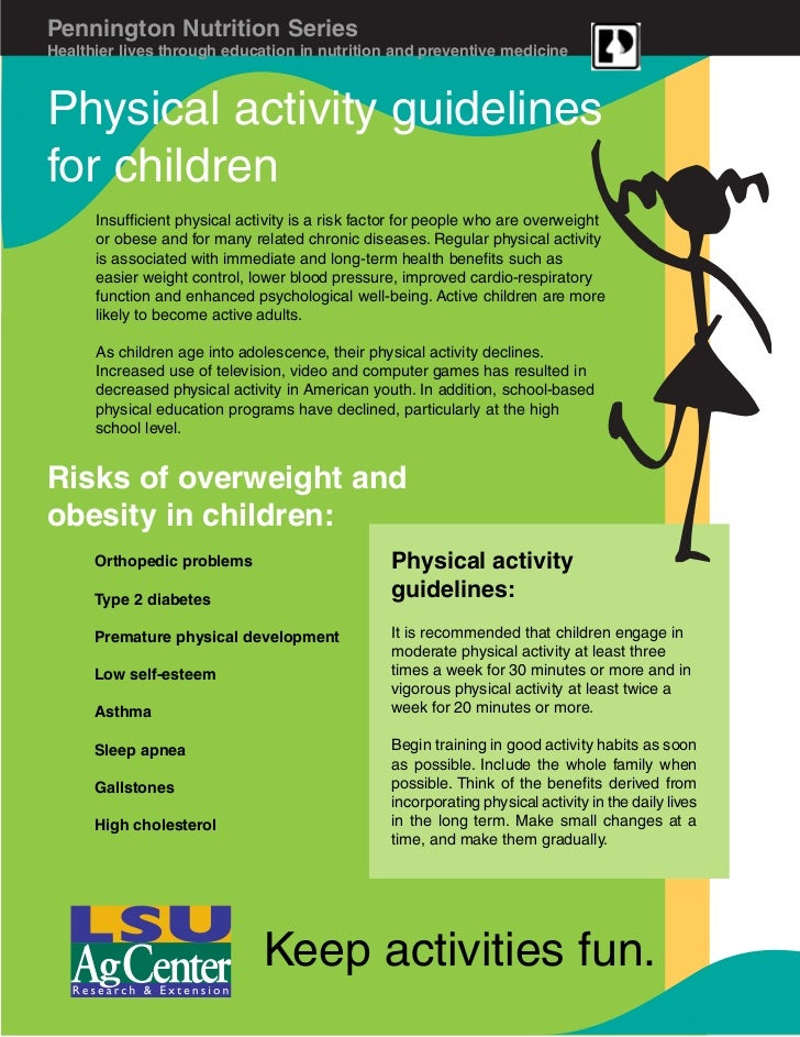 Pennington Nutrition SeriesHealthier lives through education in nutrition and preventive medicinePhysical activity guideli...