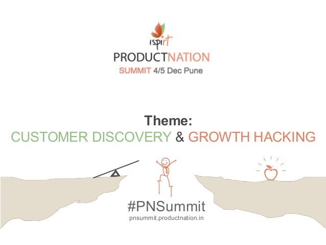 Theme: CUSTOMER DISCOVERY & GROWTH HACKING #PNSummit pnsummit.productnation.in