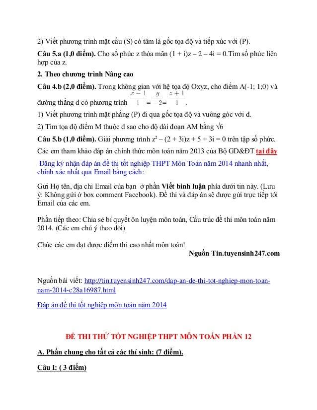 Câu 4.b (2,0 điểm). Trong không gian với hệ tọa độ Oxyz, cho điểm A(-1; 1;0) và đường thẳng d có phương trình = = . 1) Viế...