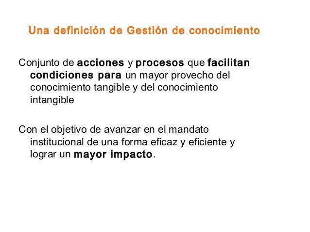 La sistematizacion y la gesti n de conocimiento pnud for Oficina abierta definicion