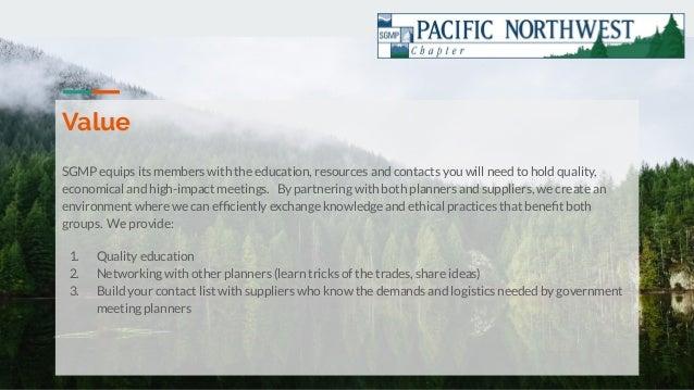 PNW SGMP Chapter Presentation Slide 2