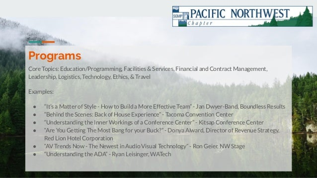 PNW SGMP Chapter Presentation Slide 3