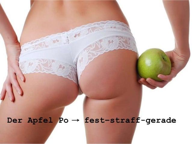 Der Apfel Po   fest–straff-gerade