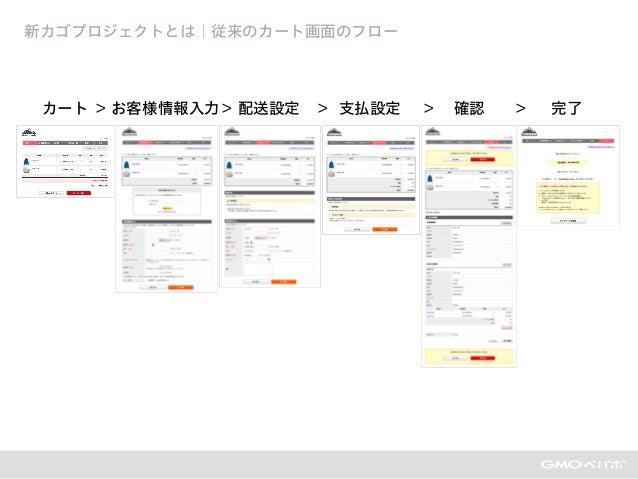 新カゴプロジェクトとは|従来のカート画面のフロー カート お客様情報入力 配送設定 支払設定 確認 完了> > > > >