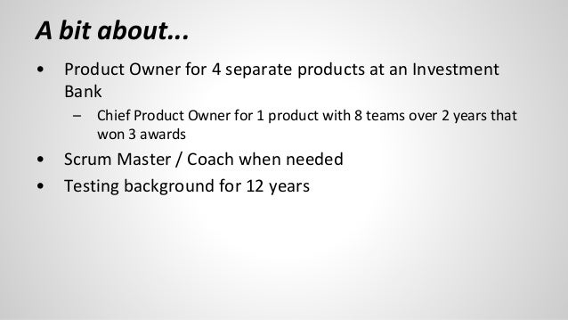 Measuring Success as a Product Owner Slide 2