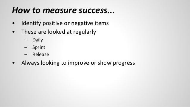 Measuring Success as a Product Owner Slide 3