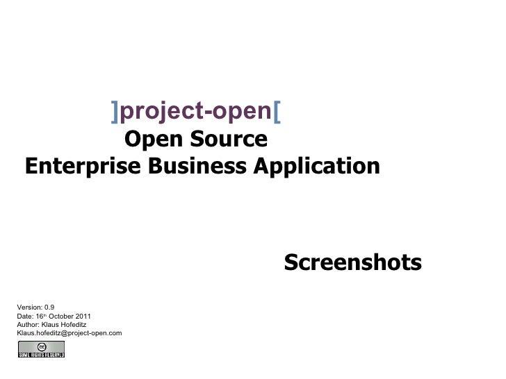 ]project-open[           Open Source  Enterprise Business Application                                            Screensho...