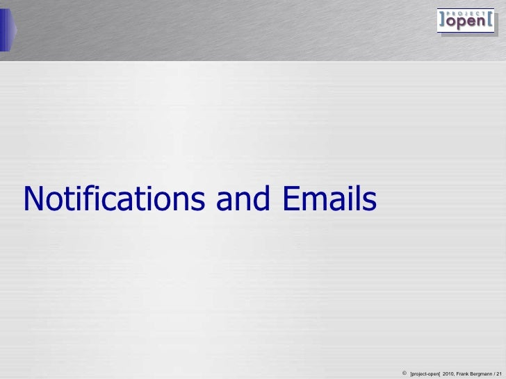 Notifications and Emails