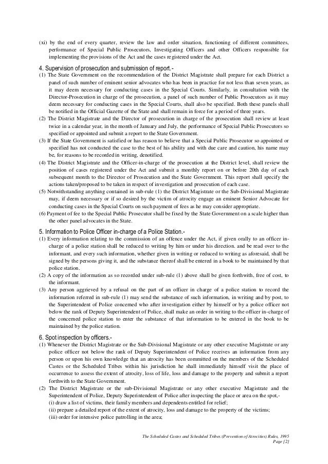 POA 2 SCs and STs (PoA) Rules 1995 Slide 2
