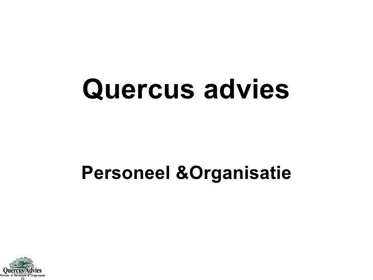 Quercus advies Personeel &Organisatie