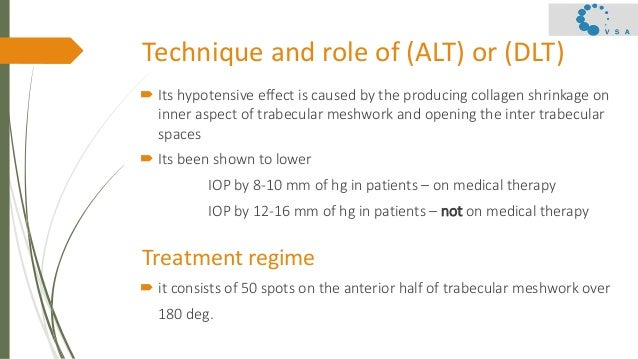 Primary open angle glaucoma  – surgical management Slide 3