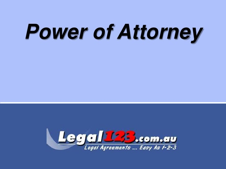 Power of Attorney<br />