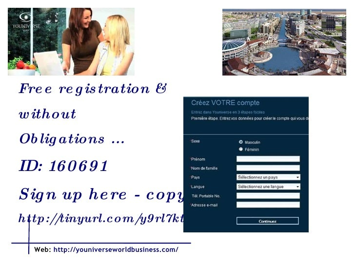 Free registration &  without Obligations ...  ID: 160691 Sign up here - copy  http://tinyurl.com/y9rl7kt    Web:   http://...