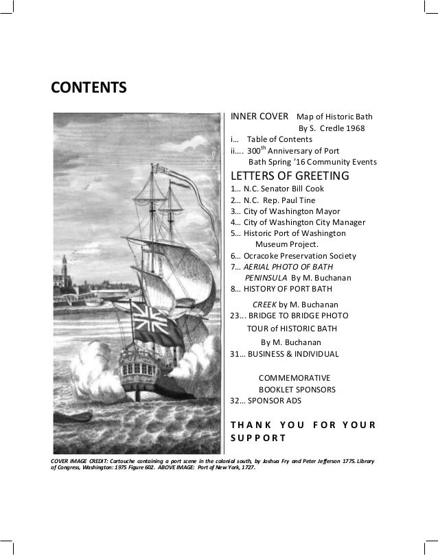 300th Port Bath Souvenir 5515 Printers Proof