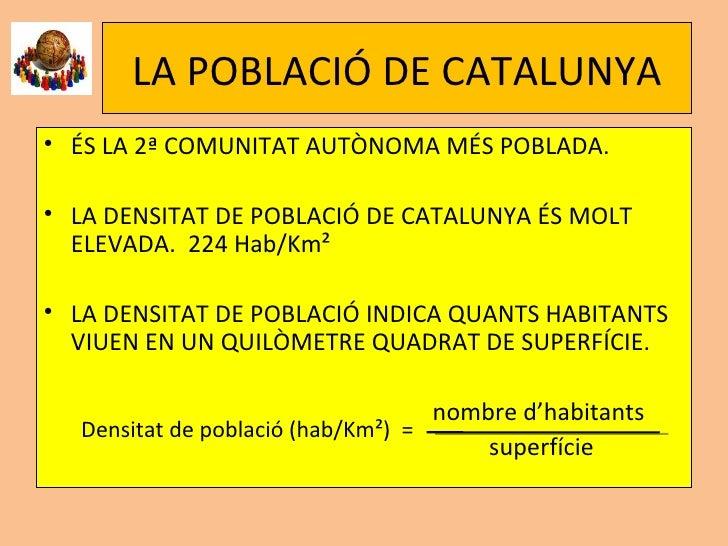 Població I Activitats EconòMiques De Catalunya Slide 2