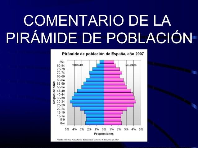COMENTARIO DE LAPIRÁMIDE DE POBLACIÓN