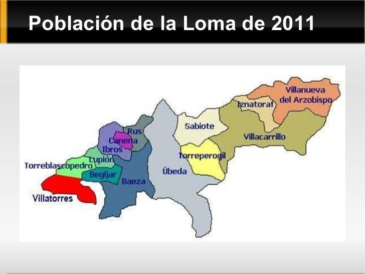 Población de la Loma de 2011