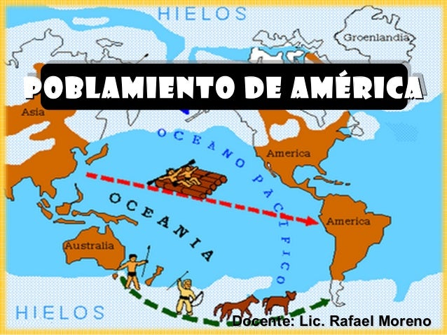 POBLAMIENTO DE AMÉRICAPOBLAMIENTO DE AMÉRICA           Docente: Lic. Rafael Moreno
