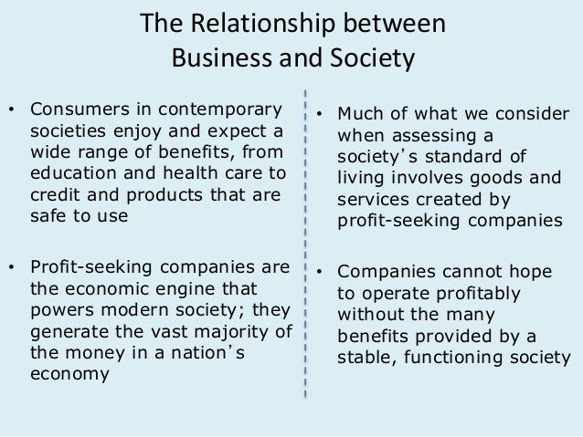 relationship between economy and society