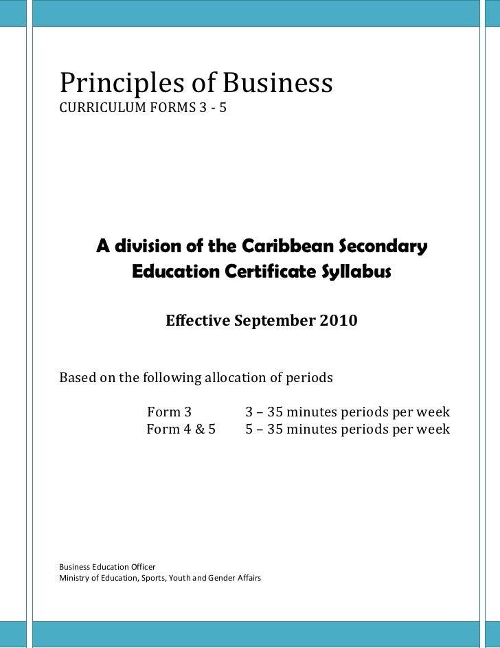 Principles of Business Essay Sample