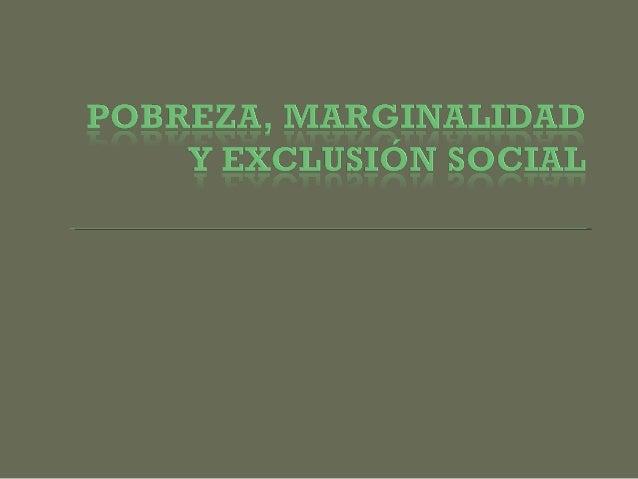 La pobreza en Chile, según el criterio de medición estadística, son aquellas personas u hogares que no logran un ingreso e...