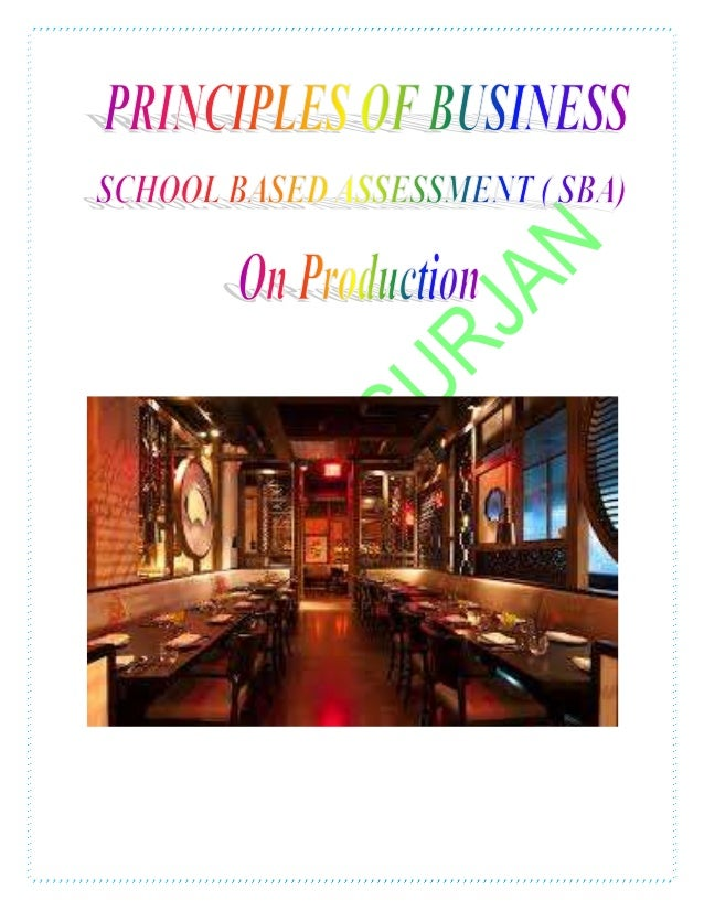 principles of business sba type of production