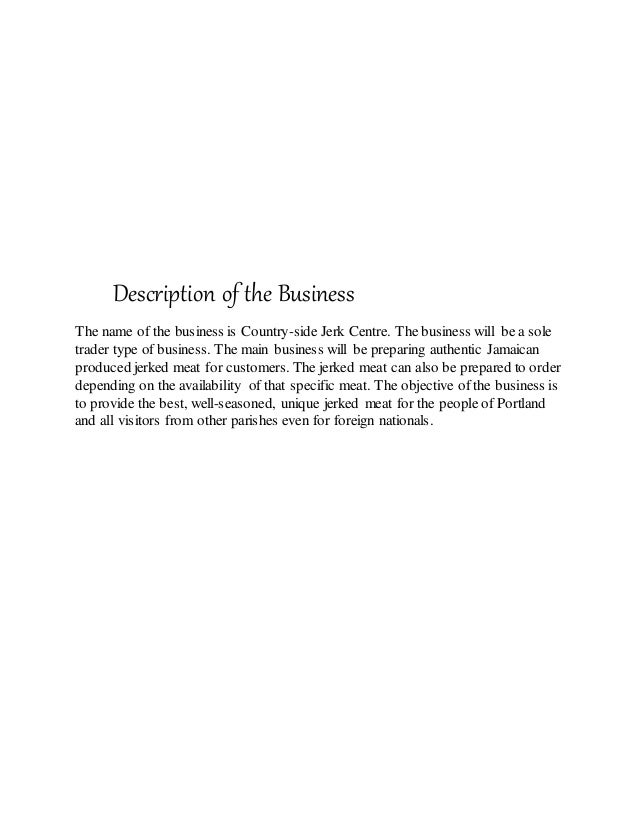 pob sba production on sole trader business Principles of business sba essay this business will be a sole trader business which will be owned and principles of business sba principles of business sba.