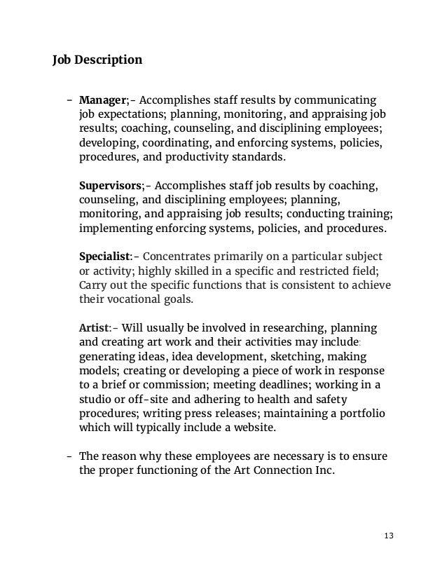 job description - Manicurist Job Description