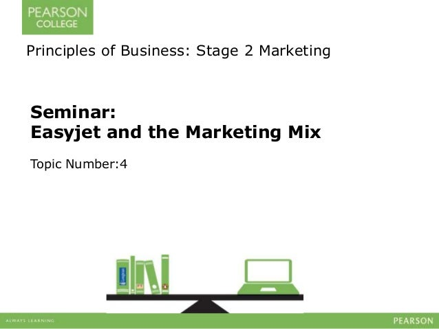 Principles of Business: Stage 2 Marketing  Seminar:  Easyjet and the Marketing Mix  Topic Number:4