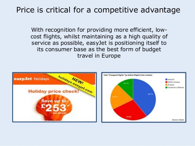 Price is critical for a competitive advantage  With recognition for providing more efficient, low-cost  flights, whilst ma...