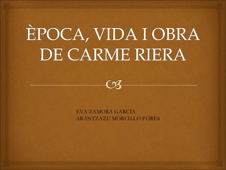 EVA ZAMORA GARCÍA ARANTZAZU MORCILLO FORÉS