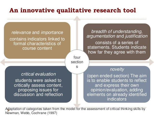 critical qualitative research Qualitative research design a that the research design of a qualitative study differs from that of self-critical, and, at all times.