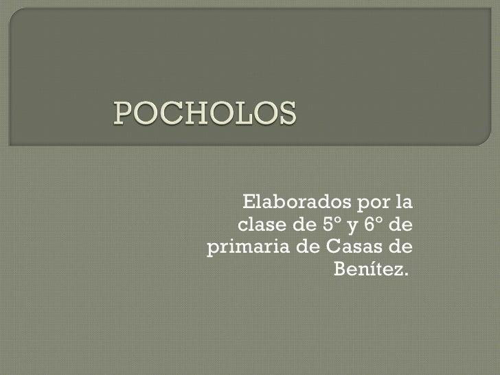 Elaborados por la   clase de 5º y 6º deprimaria de Casas de             Benítez.
