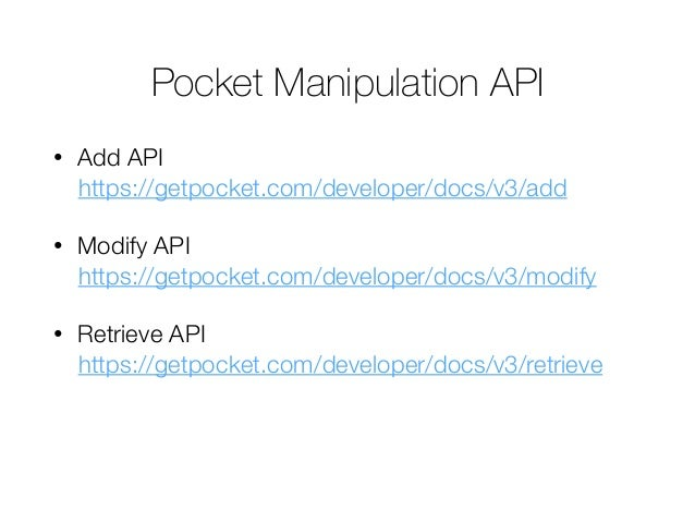Pocket Authentication with OAuth on Firefox OS Slide 2
