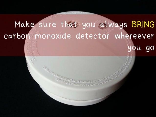 Student Room Carbon Monoxide Detector
