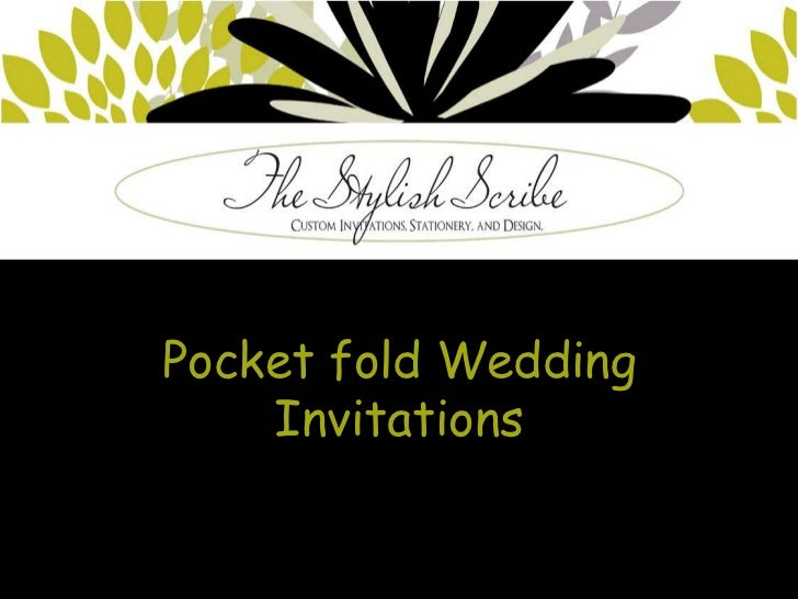 Pocket fold Wedding    Invitations
